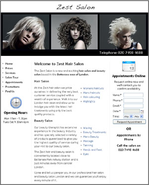 Free Salon Website